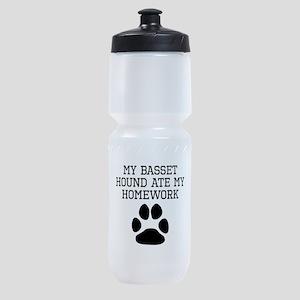 My Basset Hound Ate My Homework Sports Bottle