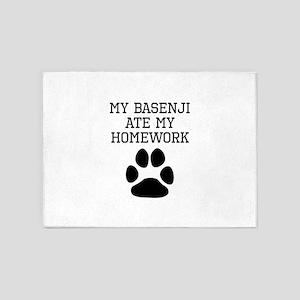 My Basenji Ate My Homework 5'x7'Area Rug