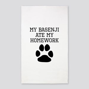 My Basenji Ate My Homework Area Rug