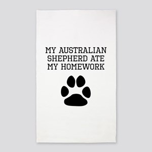 My Australian Shepherd Ate My Homework Area Rug
