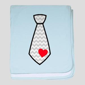 Heart Tie baby blanket