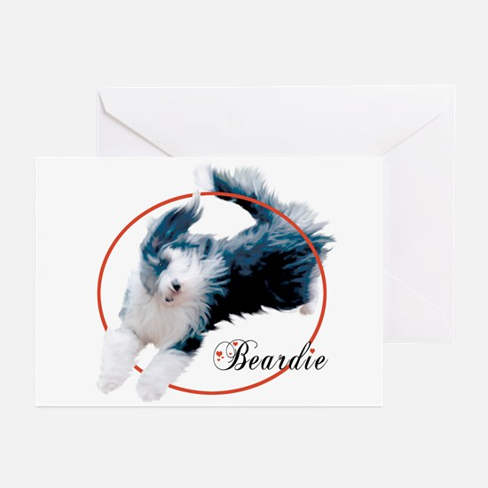 Bearded Collie Cameo NoteCards (6)