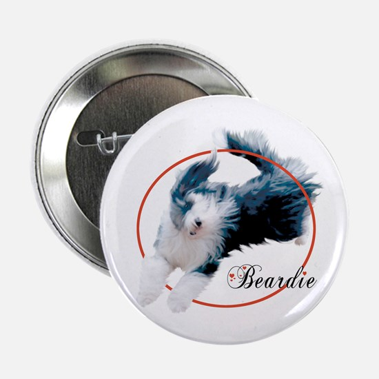 Bearded Collie Cameo Button