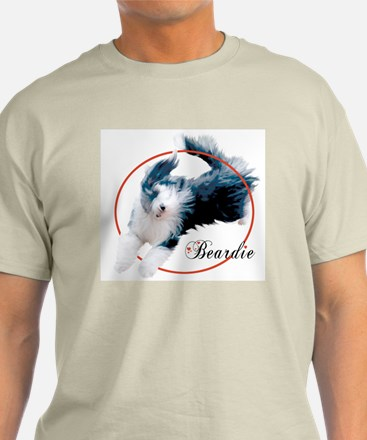 Bearded Collie Cameo Ash Grey T-Shirt