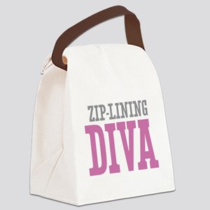 Zip-Lining DIVA Canvas Lunch Bag