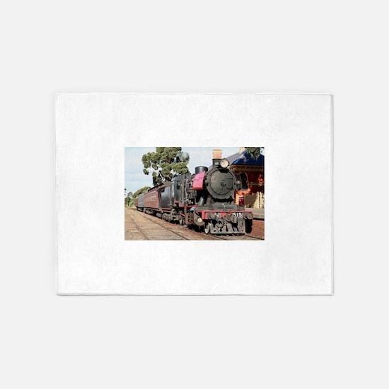 Goldfields steam locomotive, Victor 5'x7'Area Rug