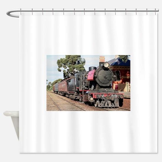 Goldfields steam locomotive, Victor Shower Curtain