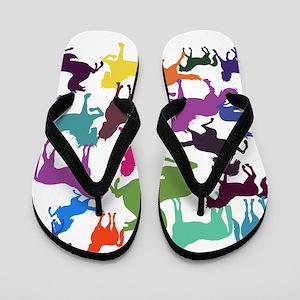 Rainbow Horses Flip Flops