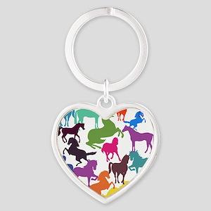 Rainbow Horses Keychains