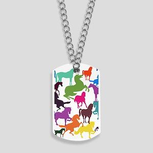 Rainbow Horses Dog Tags