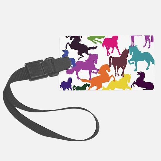 Rainbow Horses Luggage Tag