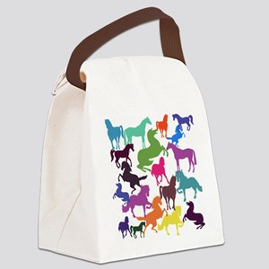 Rainbow Horses Canvas Lunch Bag