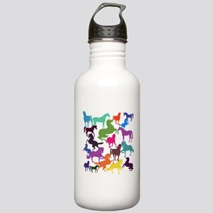 Rainbow Horses Sports Water Bottle