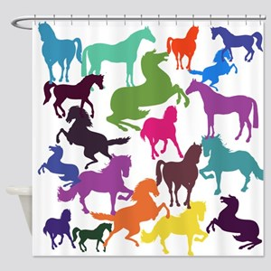 Rainbow Horses Shower Curtain