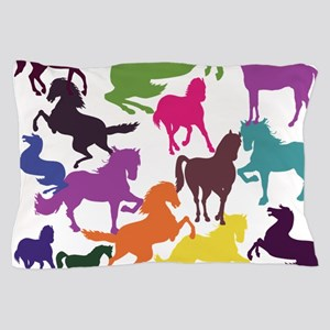 Rainbow Horses Pillow Case