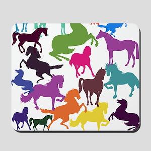 Rainbow Horses Mousepad