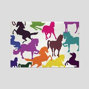 Rainbow Horses Magnets