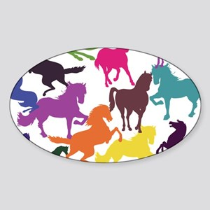 Rainbow Horses Sticker