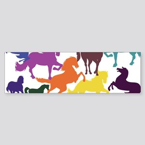 Rainbow Horses Bumper Sticker