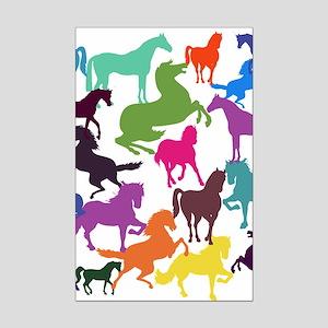Rainbow Horses Poster Print