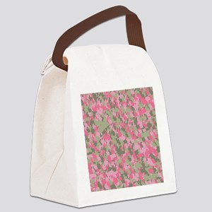Pink Bunnyflage 2 Canvas Lunch Bag