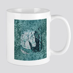 Carousel Horse Aquamarine Mug
