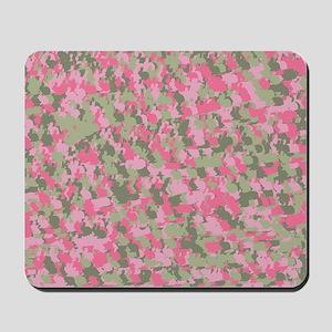 Pink Bunnyflage 2 Mousepad