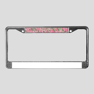 Pink Bunnyflage 2 License Plate Frame