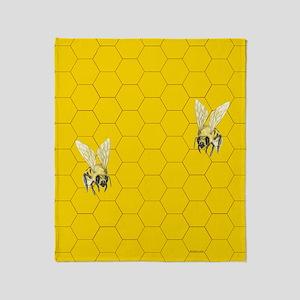 Bees Over Honeycomb ~ Throw Blanket