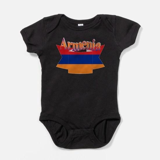 Armenia ribbon Baby Bodysuit