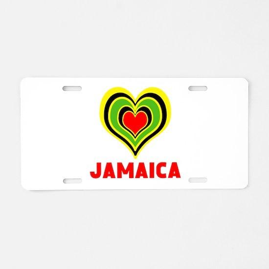 JAMAICA HEART Aluminum License Plate
