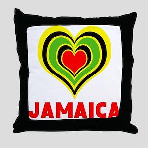 JAMAICA HEART Throw Pillow