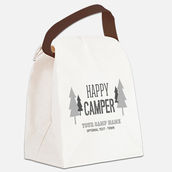 Cute Happy campers Canvas Lunch Bag
