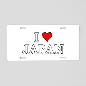 I Love Japan Aluminum License Plate