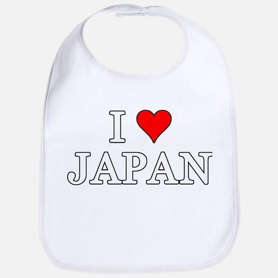 I Love Japan Bib