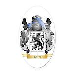 Jeffery Oval Car Magnet