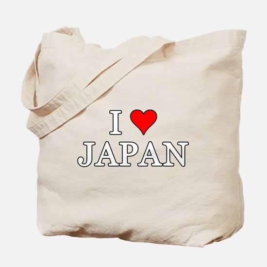 I Love Japan Tote Bag