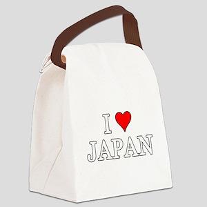 I Love Japan Canvas Lunch Bag