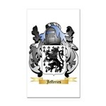 Jefferies Rectangle Car Magnet