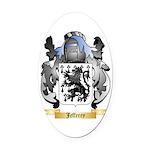 Jefferey Oval Car Magnet