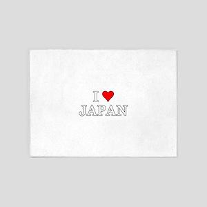 I Love Japan 5'x7'Area Rug