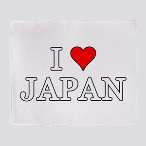 I Love Japan Throw Blanket
