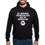 Bernese mountain dog Dark Hoodies