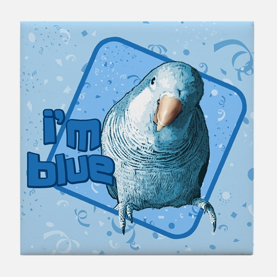 I'm Blue Quaker Tile Coaster