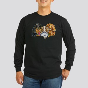3 Longhaired Dachshunds Long Sleeve T-Shirt