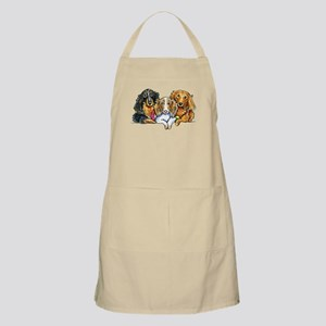 3 Longhaired Dachshunds Apron