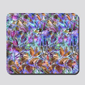 Floral Stained Glass 2 Mousepad