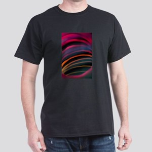 Colorful red color circular art swirl abst T-Shirt
