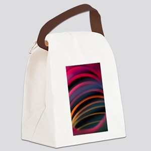 Colorful red color circular art s Canvas Lunch Bag