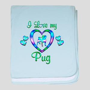 Love My Pug baby blanket
